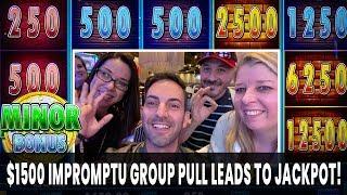 💸 MAX BET HANDPAY ✋ Huff N' Puff 🐷 $1500 Mini Group Pull