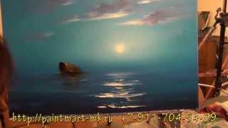 как нарисовать морской пейзаж(Вы узнаете как нарисовать морской пейзаж за пару часов., 2014-02-15T09:39:31.000Z)
