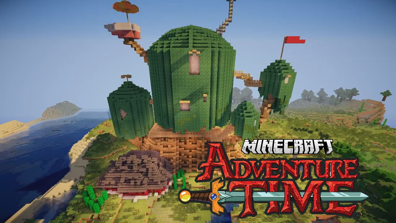 Minecraft adventure time treehouse youtube for Time to build a house