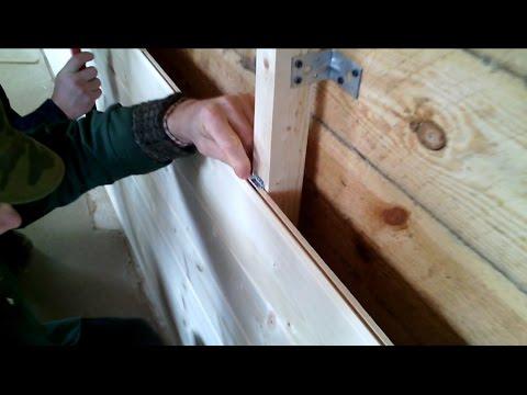 Как монтировать деревянный блок хаус видео