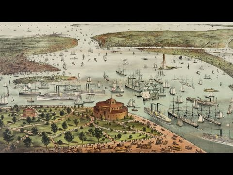 New York City Port History and Cartography (1892)