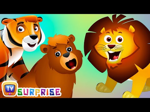 Thumbnail: Surprise Eggs Nursery Rhymes Toys | Wheels On The Bus | Wild Animals and Animal Sounds | ChuChu TV