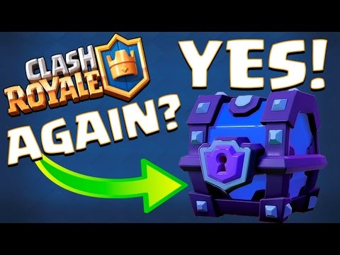 JUST GOT A NEW SUPER MAGICAL CHEST! :: Clash Royale :: FARMING AMAZING CHESTS!