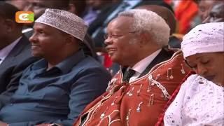 [VIDEO] President Kenyatta, Odinga clash at Ntimama's funeral