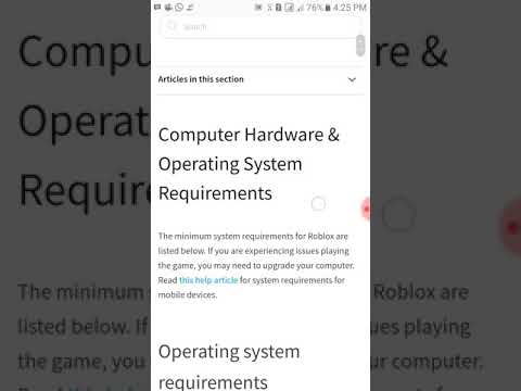 Roblox System Requirement Ios Android Pc Vga Memory Processor