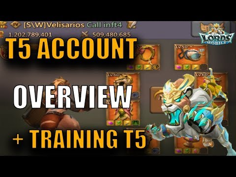 T5 ACCOUNT OVERVIEW + BUILDING T5 - Lords Mobile