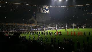 S04 - Leverkusen 1-2 - Steigerlied, Choreo Ultras Gelsenkirchen und Einlauf der Mannschaft 19.12.18