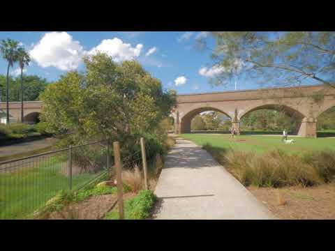 Sydney Video Walk 4K - Glebe Foreshore Park Spring 2017