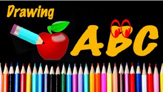Learn ABC and drawing cartoons (A to Z)