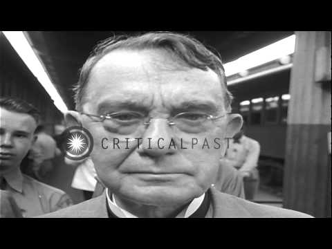 Sergeant York arrives by train in Washington, DC,United States.Greeted by politic...HD Stock Footage