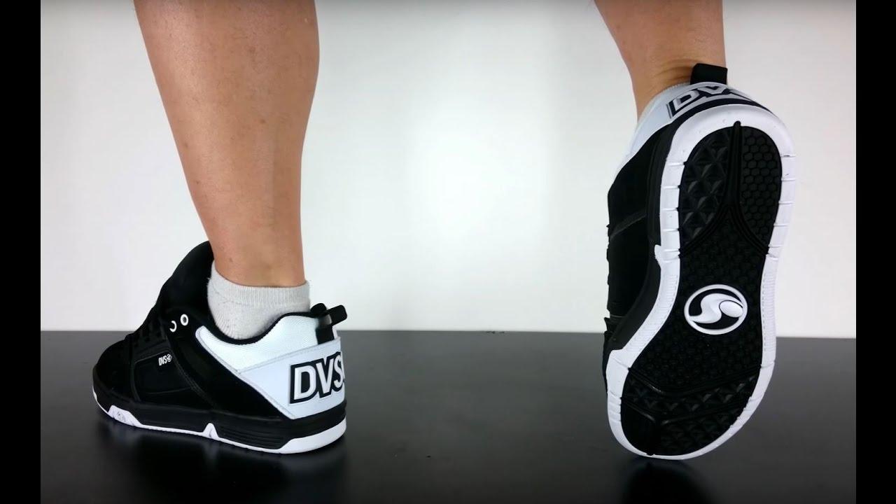 DVS COMANCHE black white black leather