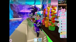 Sunset island!!!! one round with vichkin roblox and random stuff