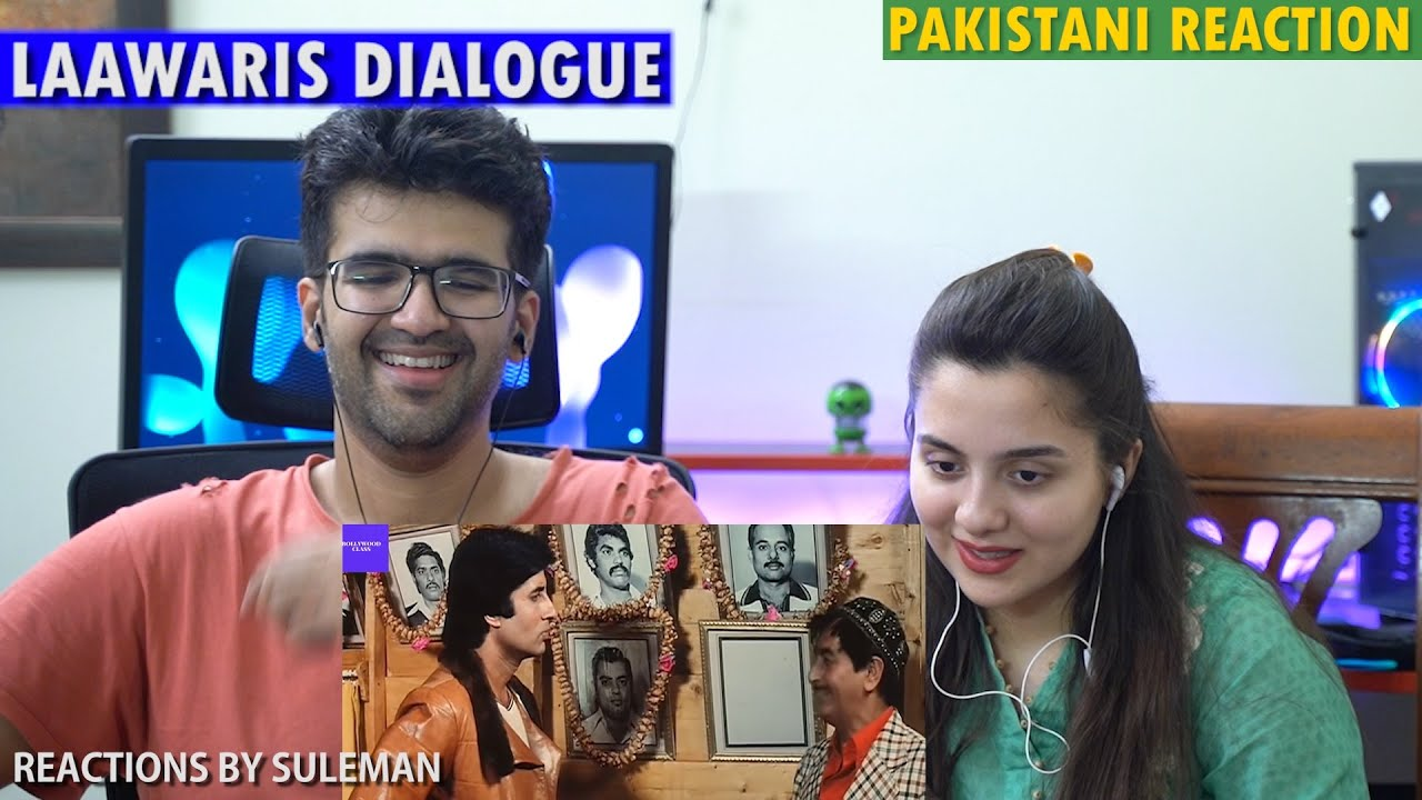 Pakistani Couple Reacts To Laawaris Dialogue | Amitabh Bachchan