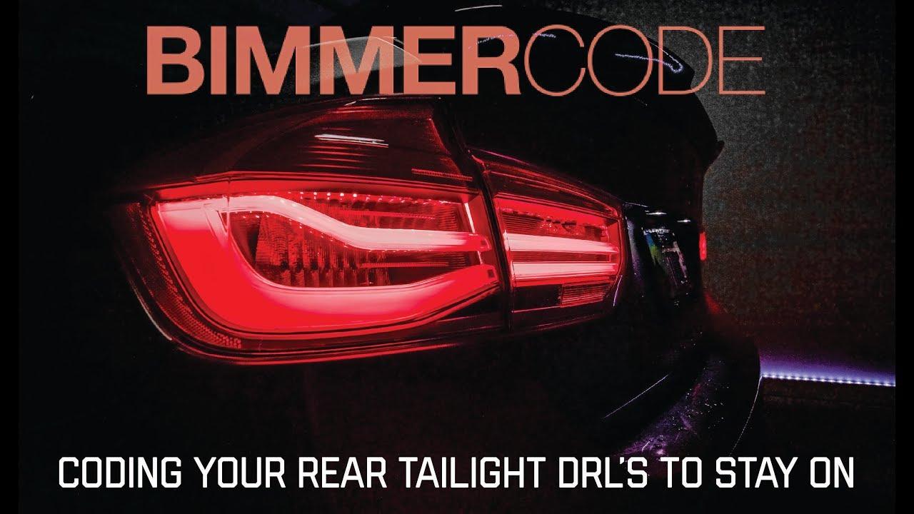 BIMMERCODE: CODING DRL REAR LAMPS TO STAY ON - Смотреть