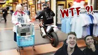 Mit Motorrad durch den Supermarkt?! | Reaktion mit LucasLit