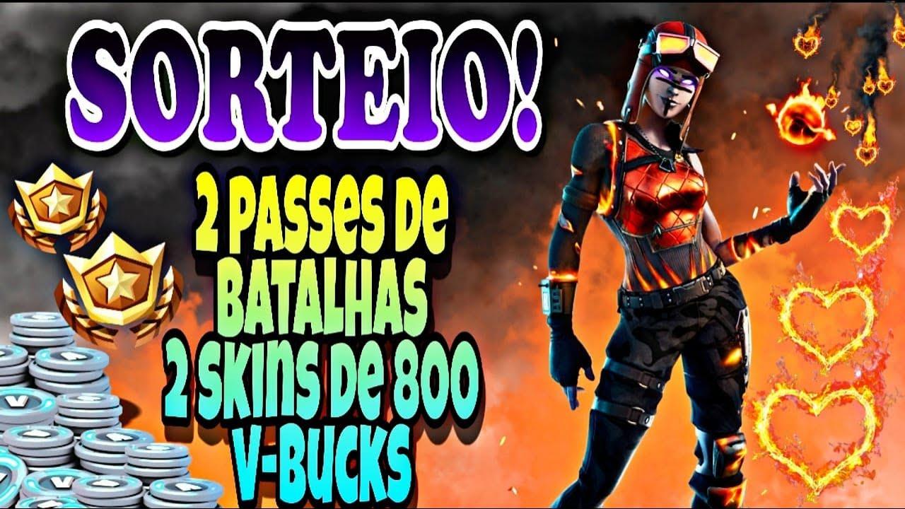 LIVE-SALA PERSONALIZADA FORTNITE AO (VIVO)SORTEIO DE 2 PASSES DE BATALHAS 2 SKINS DE 800 VBUCKS