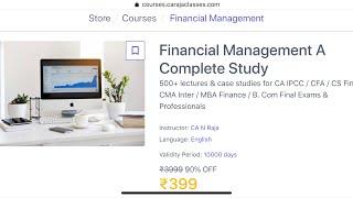 Financial Management A Complete Study Course - 300+ Lectures- ₹399 - App & Website Access