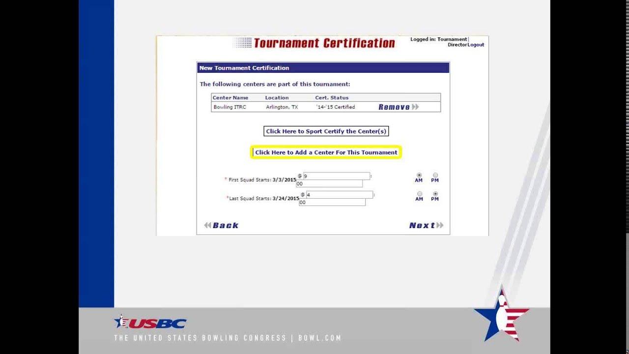 Usbc Online Tournament Certification Otc System Youtube
