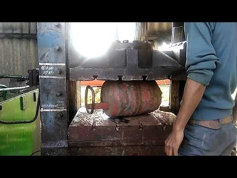 LPG GAS CYLINDER CRUSHING (IOCL)