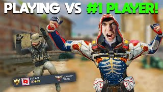 I played vs the #1 PLAYER in a PROFESSIONAL MATCH you won't believe what happened... COD Mobile