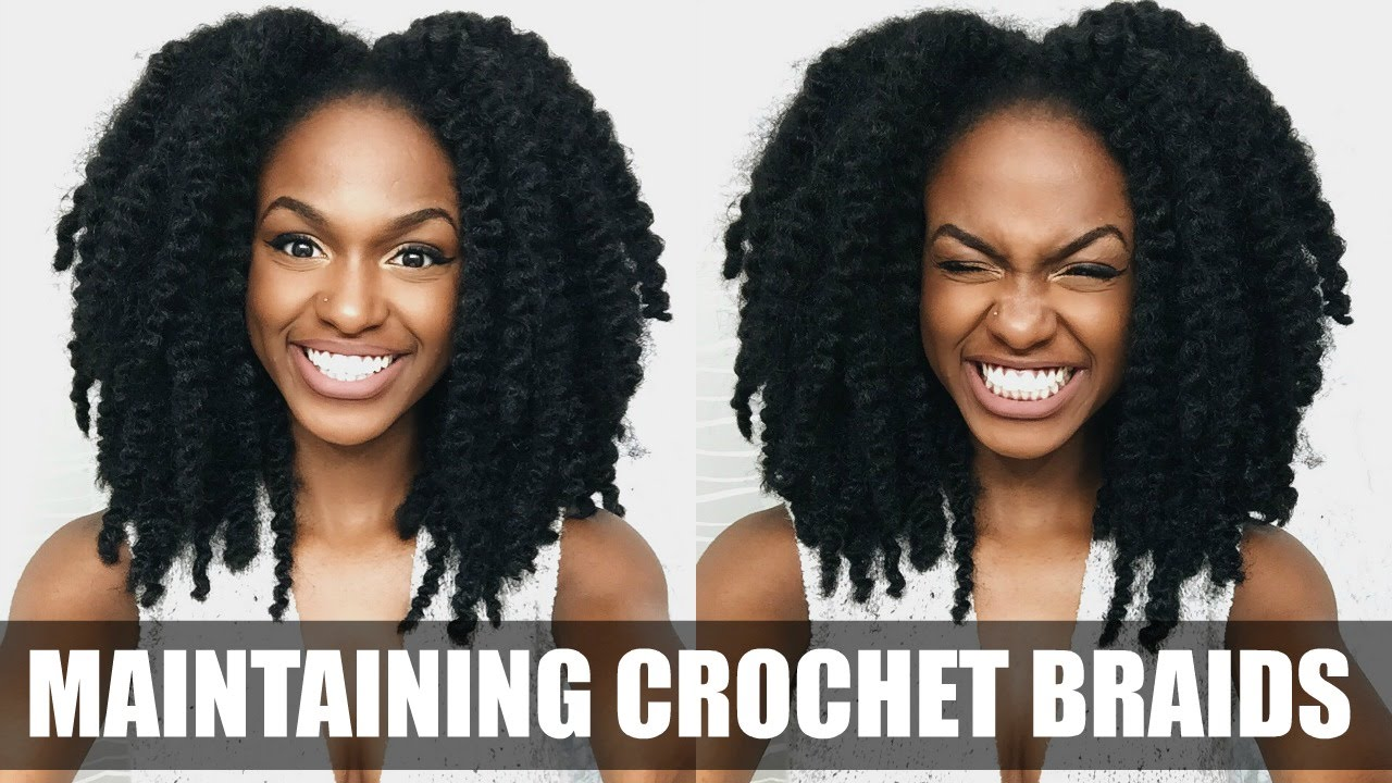 Crochet Hair Upkeep : How To Care For Your Crochet Braids - YouTube