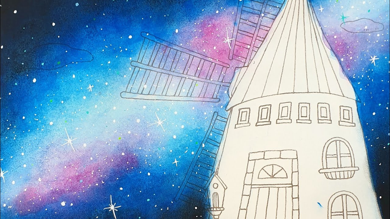 GALAXY BACKGROUND for Adult Coloring | Olivier's Tutorial