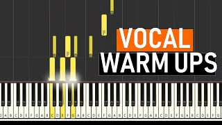 ♬ VOCAL WARM UPS #2 -- Vocal Exercises -- MAJOR SCALES - B...