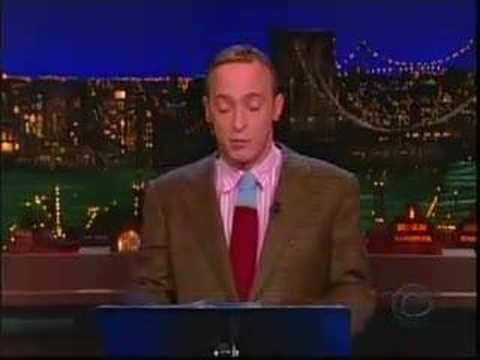 David Sedaris on The Late Show