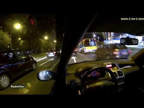 Night Drive in Belgrade - Zarkovo, Novi Beograd