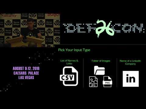 DEF CON 26 RECON VILLAGE - Jacob Wilkin - Mapping Social Media With Facial Recognition