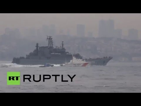 Turkey: Heightened security as Russian battleship passes the Bosphorus Strait