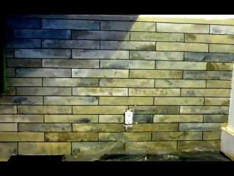 Painting A Faux Tile Backsplash Youtube