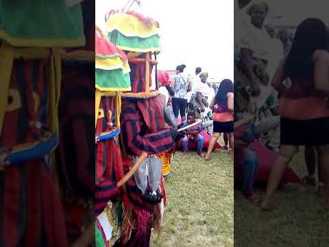 ANAMBRA CULTURAL DAY, 2017. IFITEDUNU MASQUERADE PERFORMERS. LAGOS. NIGERIA.