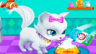 Видео для детей Мой виртуальный котенок ПУШИСТИК в детской игре про котят
