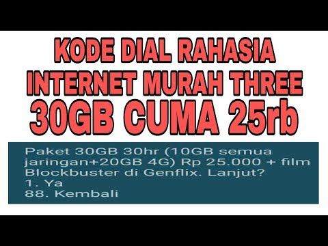 Paket Internet Tri Murah 30GB Hanya 25rb