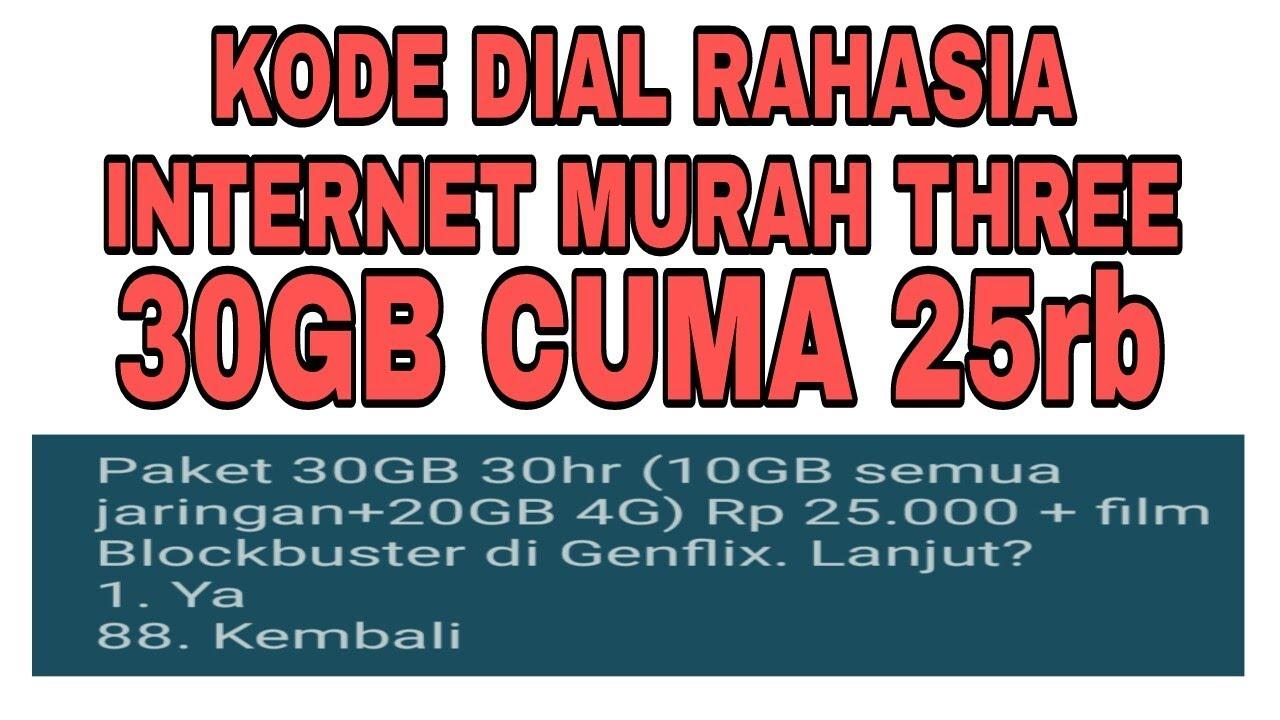 Hasil gambar untuk paket internet three murah 2018