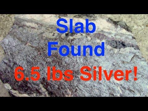 METAL DETECTING 95 tOZ SILVER SLAB AT OLD MINE
