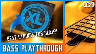 D'Addario Nylon Tapewound Bass Strings Demo/Playthrough (Acoustic/Funk) | Dacian Grada