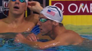 olympic swimming trials michael phelps wins 100m butterfly final