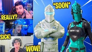 STREAMERS *REACT* To WINTER Red & Black Knight Skins! *UPCOMING!* (Fortnite Stream Highlights)