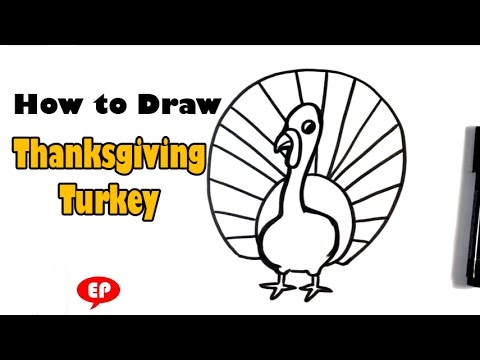 How To Draw A Thanksgiving Turkey - Easy Pictures To Draw