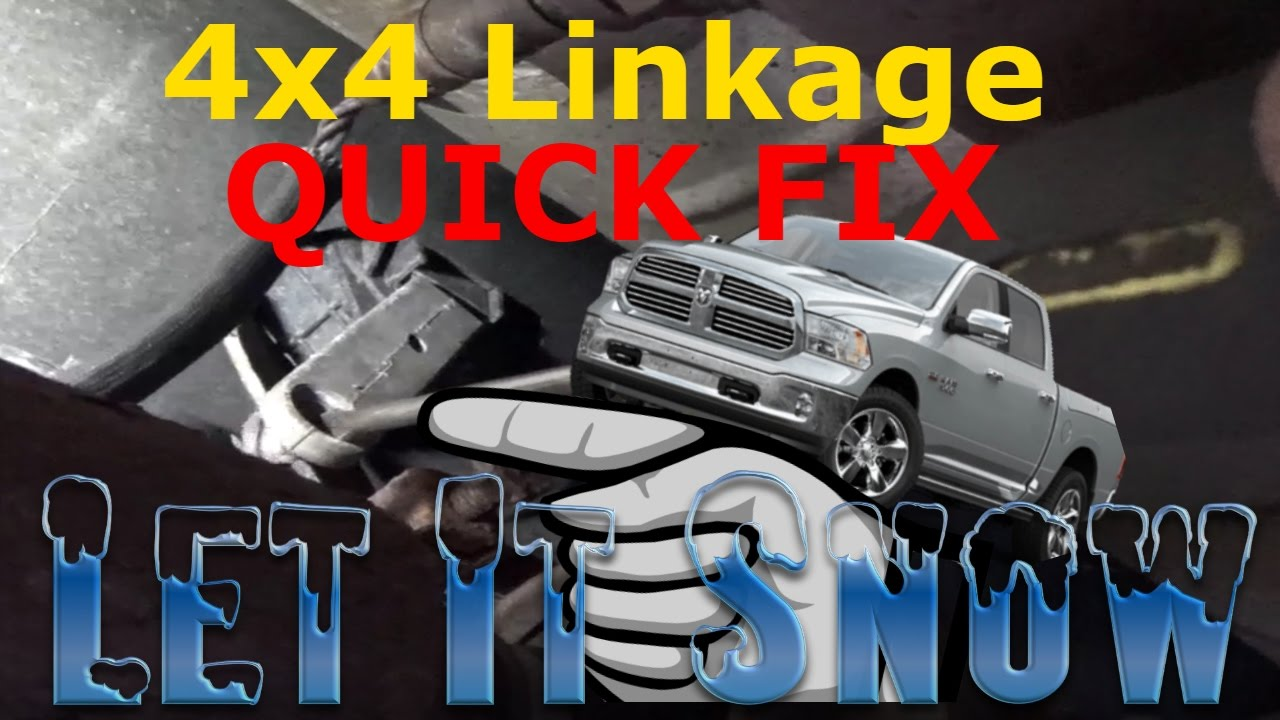 Dodge Ram 4wd lever not working QUICK FIX  YouTube