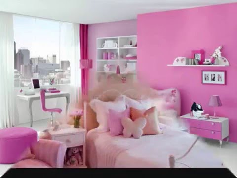 Girl Room Decoration Ideas Pink - YouTube