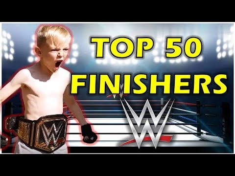 TOP 50 WWE FINISHERS OF 2017 ON TRAMPOLINE BEST WWE MOVES (TRAMPOLINE WRESTLING) WRESTLEMANIA