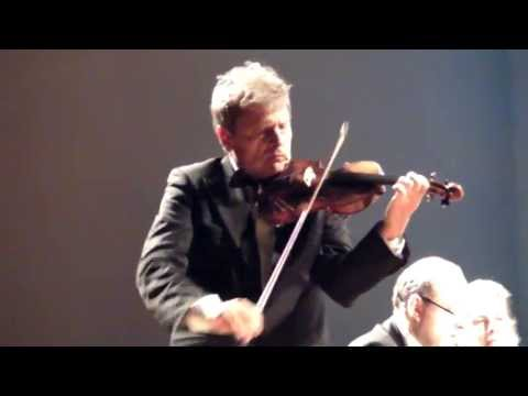 "Uto Ughi Playing ""Devil's Trill"" by Giuseppe Tartini. Violin, Concert at Turin Conservatory, Italy"
