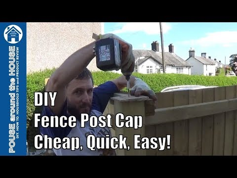 How to make a fence post cap. DIY fence post cap - Cheap, quick, easy!