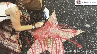 Paris Jackson Scrubs Graffiti from Hollywood Star Belonging to Radio Host Michael Jackson