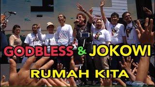 Heboh GODBLESS nyanyi Bareng Jokowi - Rumah Kita di deklarasi Alumni Jogja