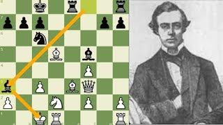 EL JAQUE MATE QUE JAMÁS PODRÁS OLVIDAR Shulder vs Boden Londres 1860