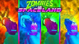 ALL ELEMENTAL EASTER EGG UPGRADES! VENOM | FIRE | WIND |STORM| ZOMBIES IN SPACELAND EASTER EGG GUIDE